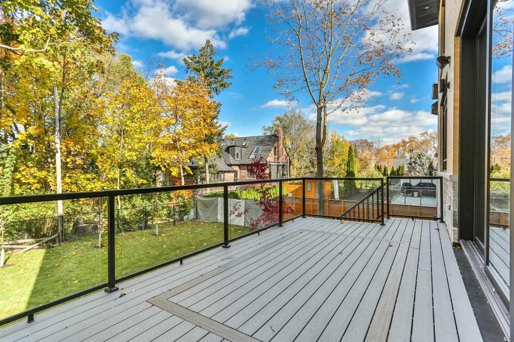 Backyard and deck exterior
