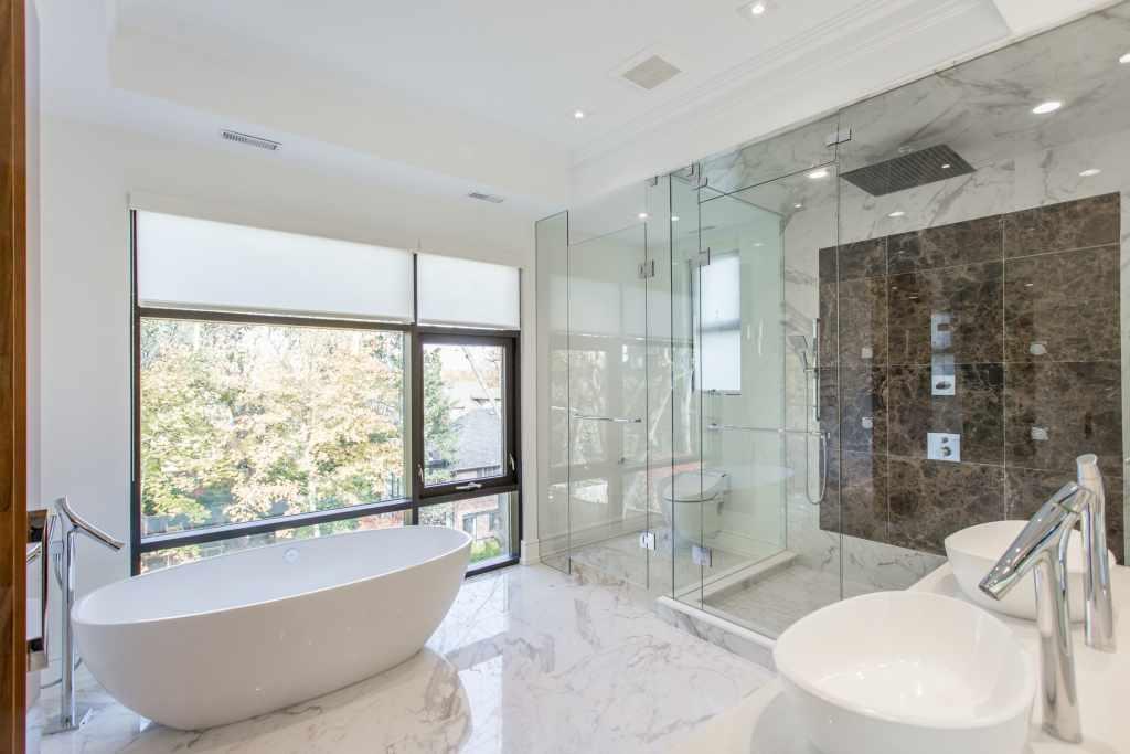 Designed bathroom in Toronto