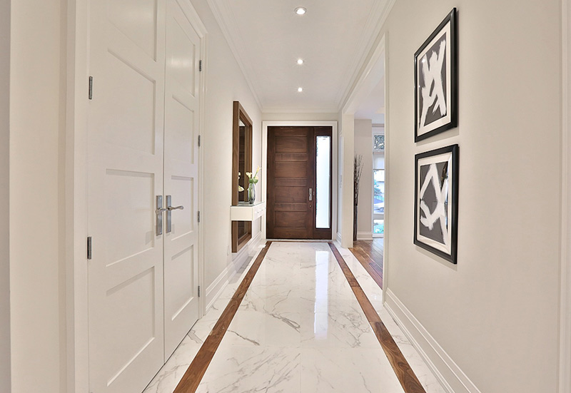 hall with marble floor